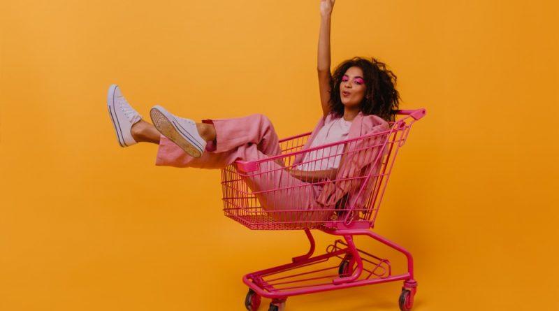 buyer in trolley